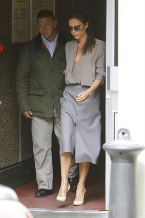 Victoria Beckham leaving London's Vogue Festival in London on April 28, 2013