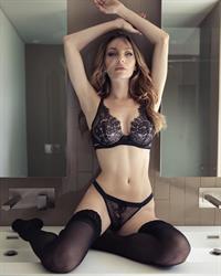 Jocelyn Binder in lingerie