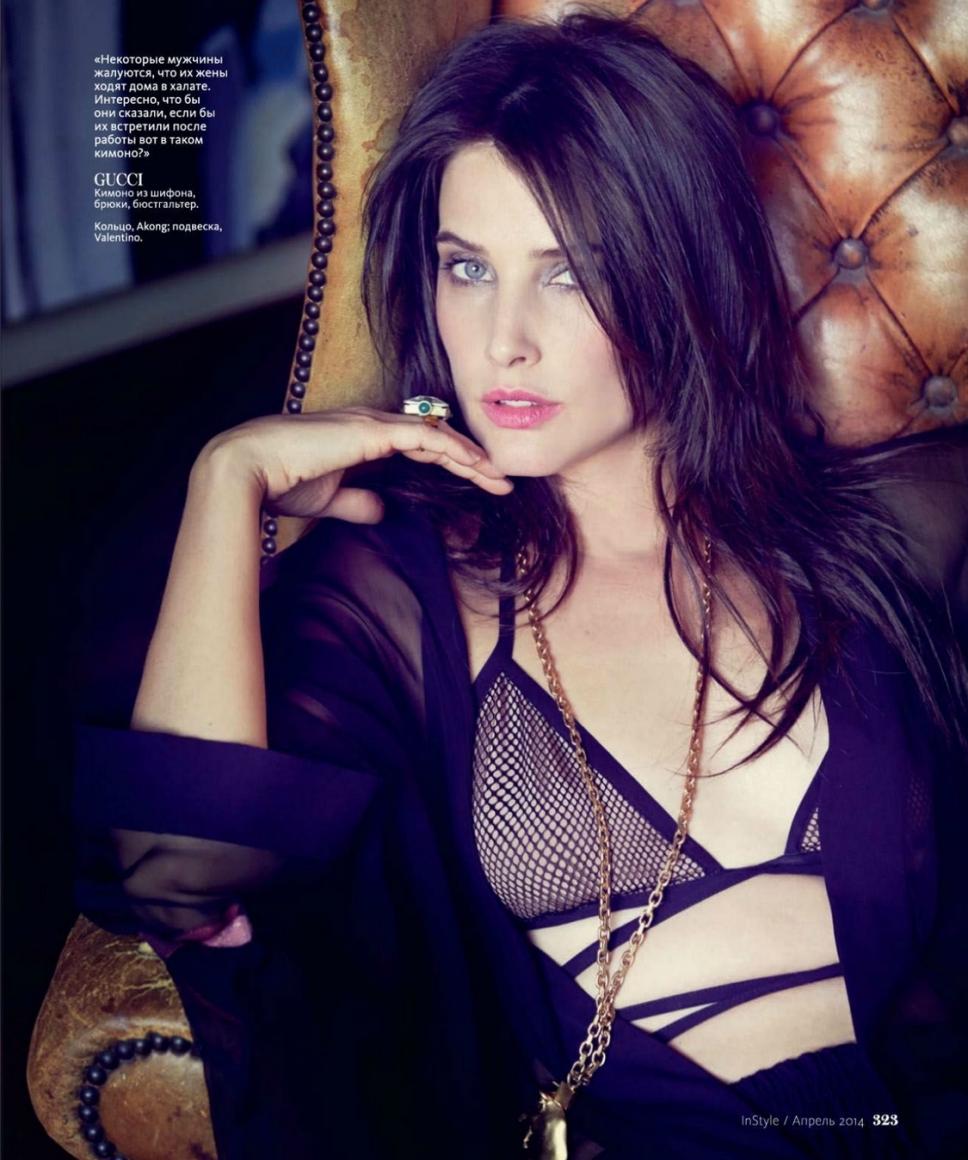 Cobie Smulders in lingerie