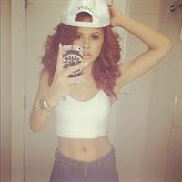 Alexis Jordan taking a selfie