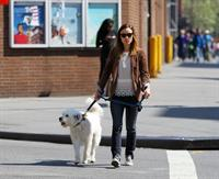 Olivia Wilde walking her dog in New York City - April 24, 2013