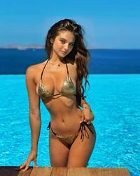 Carina Zavline in a bikini