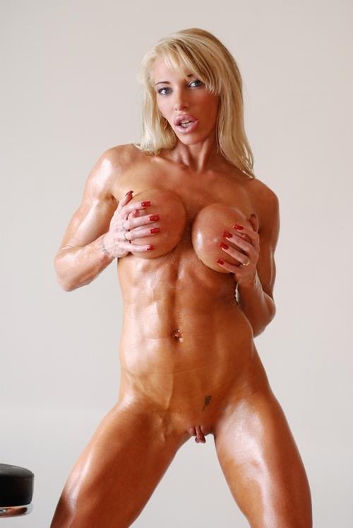 Накаченные сильные голые девушки фото