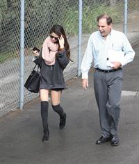 Selena Gomez arriving at a studio in LA 2/8/13