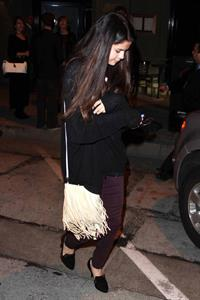 Selena Gomez heads to a date in West Hollywood on February 27, 2013