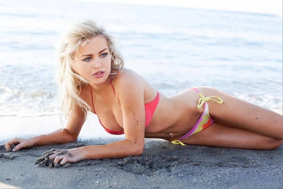 Rosie Mac in a bikini