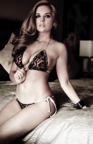 Kayla Collins in a bikini