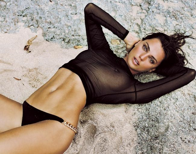Catrinel Menghia in lingerie - breasts