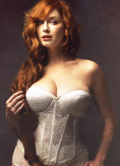 Christina Hendricks in lingerie