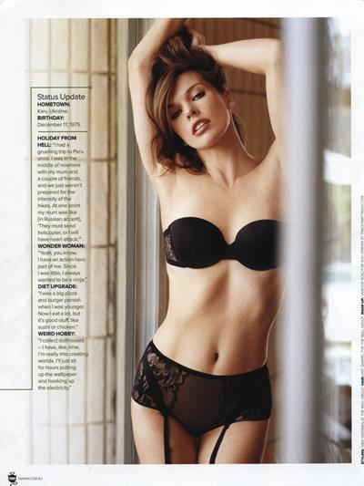 Milla Jovovich in lingerie