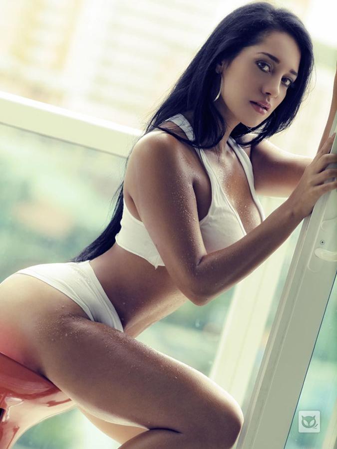 Andrea Calle in a bikini
