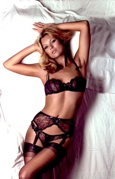 Kate Moss in lingerie