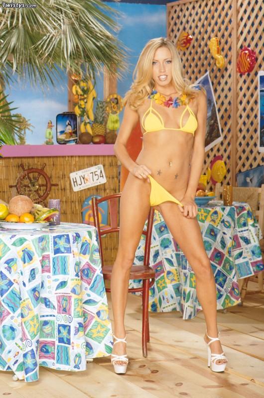 Cassie Young in a bikini