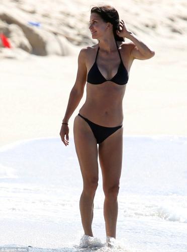 Courteney Cox in a bikini