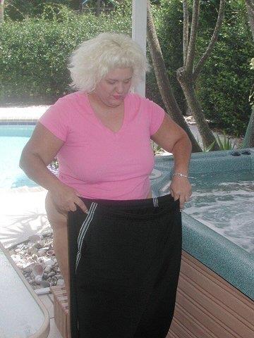 Swimming in lingerie