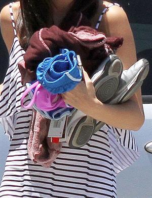 Selena Gomez arrives at studio in Van Nuys on July 18, 2011