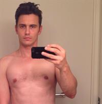 James Franco taking a selfie