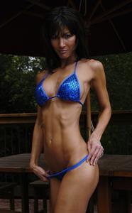 Melissa Wheat in a bikini