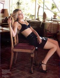 Sarah Carter in lingerie
