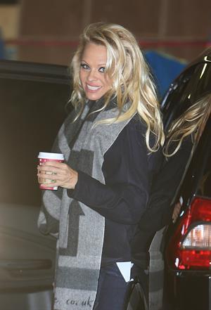 Pamela Anderson At ITV Studios in London 03.01.13