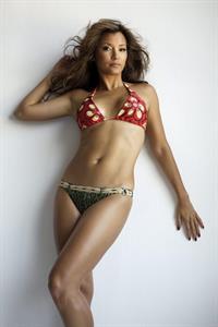 Kelly Hu in a bikini in lingerie